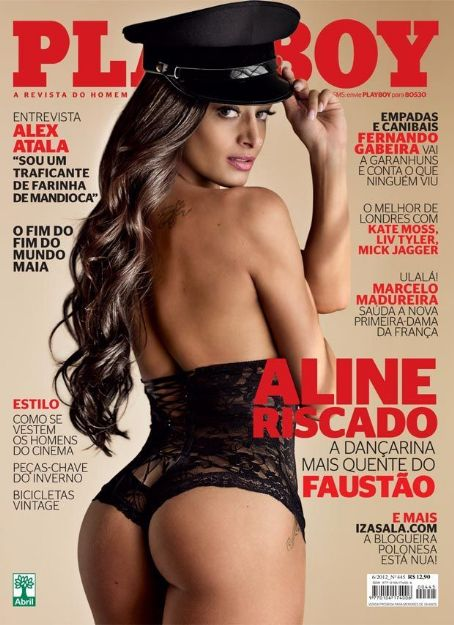 Aline Riscado - Playboy Magazine Cover [Brazil] (June 2012)