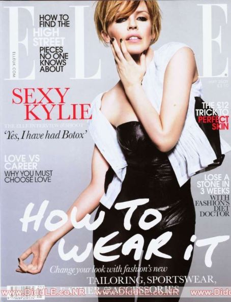 Kylie Minogue - Elle Magazine [United Kingdom] (May 2009)