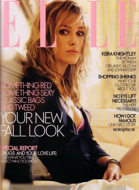 Keira Knightley - Elle Magazine [United States] (August 2003)