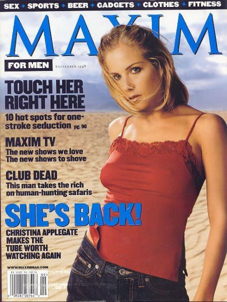 Christina Applegate - Maxim Magazine [United States] (September 1998)