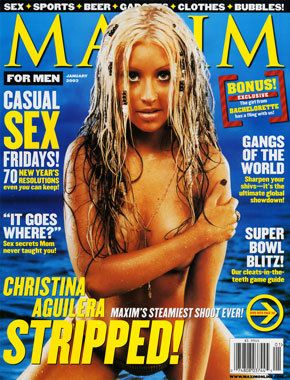 Christina Aguilera - Maxim Magazine [United States] (January 2003)
