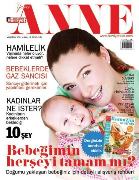 Ceyda Düvenci - Yeni Anne Magazine Cover [Turkey] (August 2011)