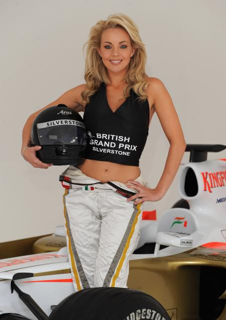 Gemma Garrett - Female Face Of The 2008 Formula 1 British Grand Prix