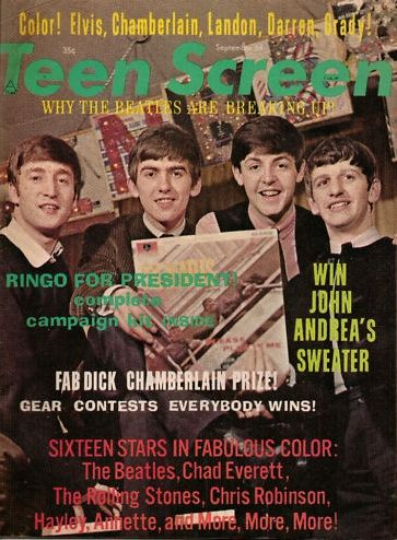 Ringo Starr, John Lennon, Paul McCartney, George Harrison - Teen Screen Magazine Cover [United States] (September 1964)