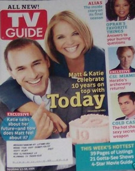 Katie Couric - TV Guide Magazine [United States] (12 December 2005)