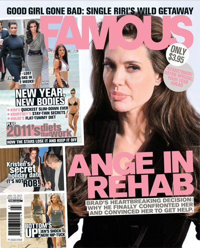 Angelina Jolie - Famous Magazine Cover [Australia] (2 January 2011)
