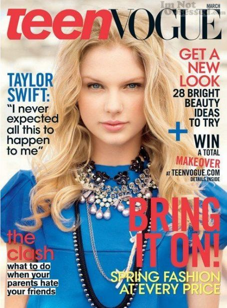 Taylor Swift, Teen Vogue Magazine [United States] (March 2009)
