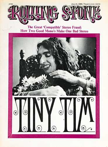 Tiny Tim - Rolling Stone Magazine [United States] (6 July 1968)