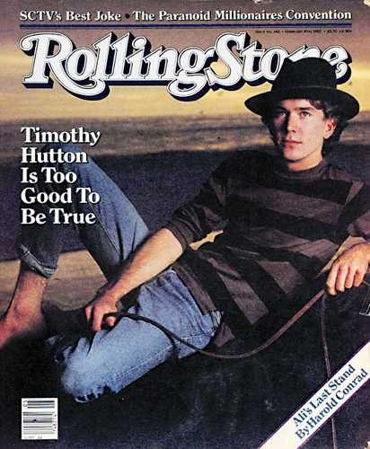 Timothy Hutton - Rolling Stone Magazine [United States] (4 February 1982)