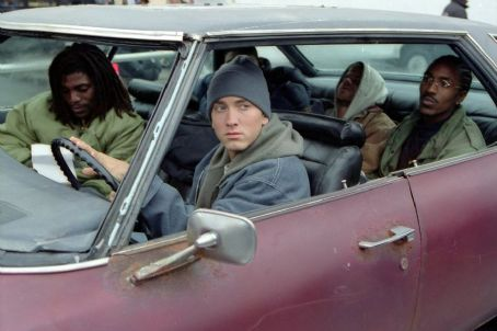 Evan Jones Mekhi Phifer, Eminem,  and De'Angelo Wilson in Universal's 8 Mile - 2002