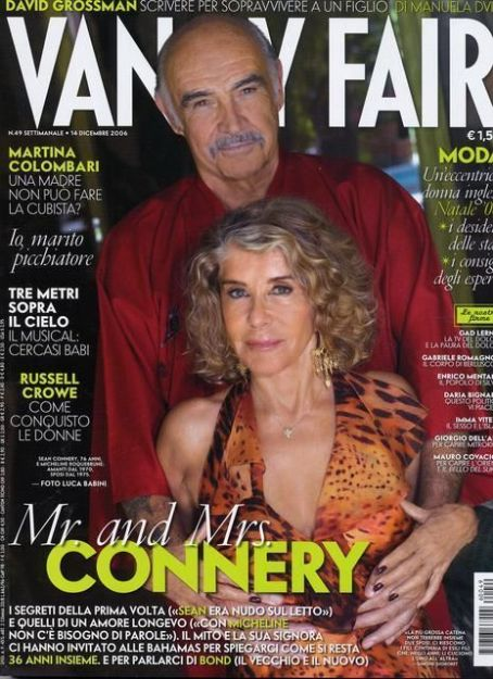 Sean Connery - Vanity Fair Magazine [Italy] (6 December 2006)