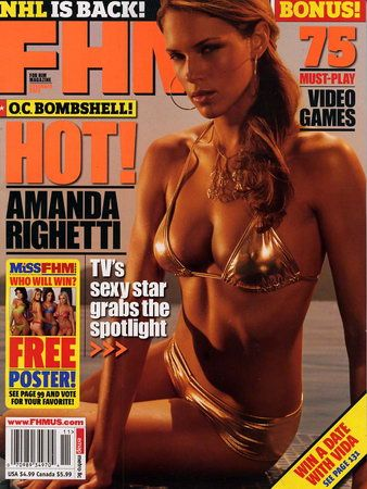 Amanda Righetti - FHM Magazine [United States] (November 2005)
