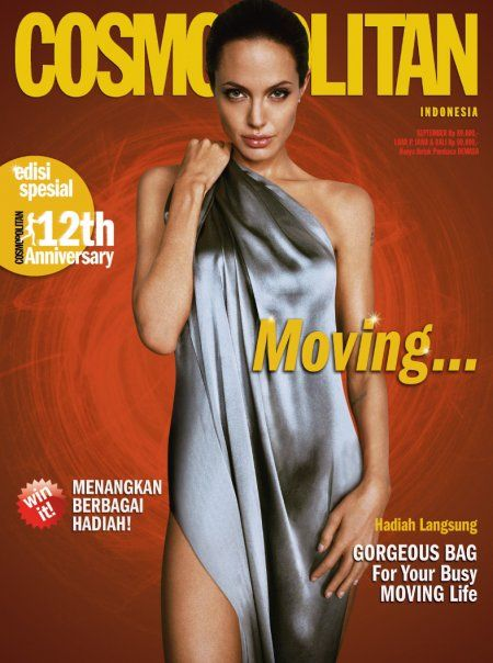 Angelina Jolie - Cosmopolitan Magazine Cover [Indonesia] (September 2009)