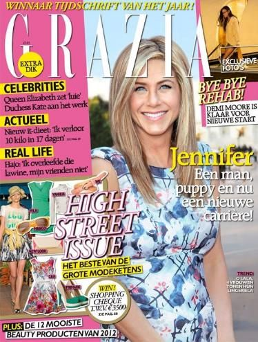 Jennifer Aniston - Grazia Magazine Cover [Netherlands] (13 March 2012)