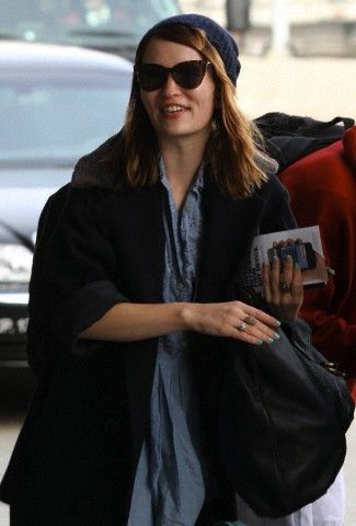 Emily Browning At LAX Airport