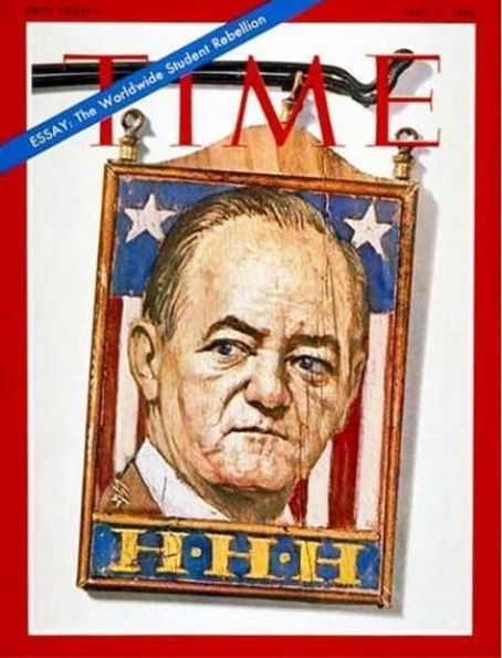 Hubert Humphrey - Time Magazine [United States] (3 May 1968)