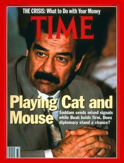 Saddam Hussein - Time Magazine [United States] (10 September 1990)