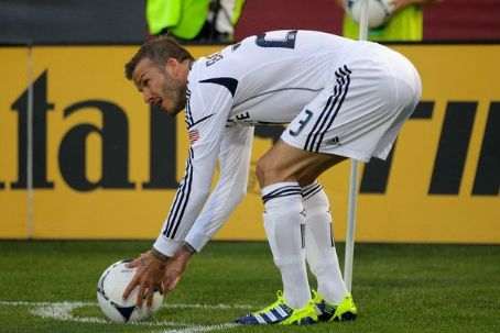 David Beckham playing in Los Angeles Galaxy v Colorado Rapids Match