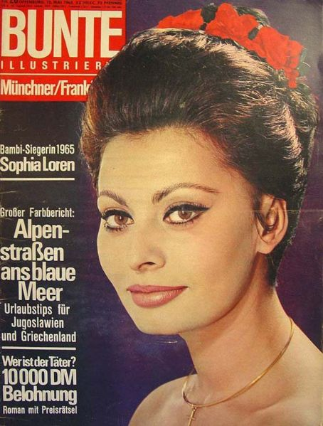 Sophia Loren - Bunte Magazine [Germany] (12 May 1965)
