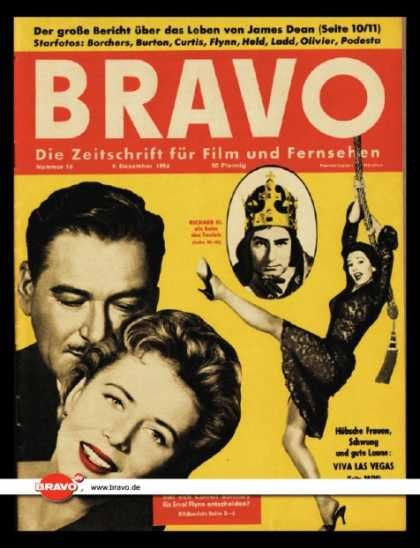 Errol Flynn - Bravo Magazine [Germany] (8 December 1956)
