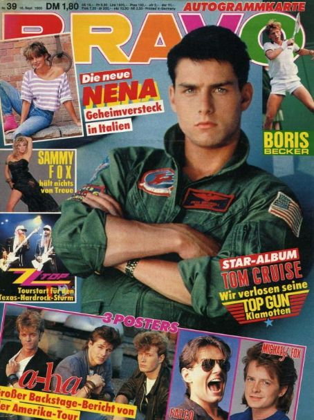 Tom Cruise - Bravo Magazine [Germany] (18 September 1986)