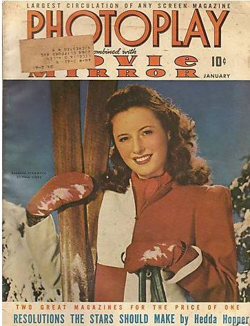 Barbara Stanwyck - Photoplay Magazine [United States] (January 1942)