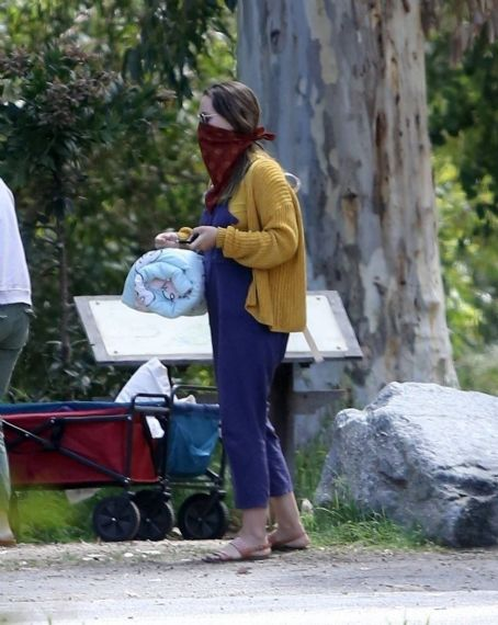 Leighton Meester – Out for a walk in the woods in Los Angeles