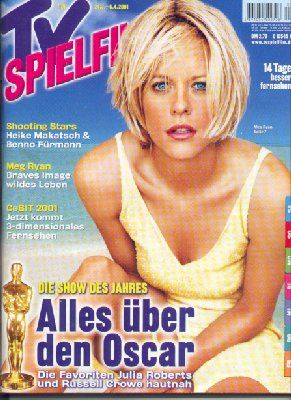 Meg Ryan - TV-Spielfilm Magazine [Germany] (April 2001)
