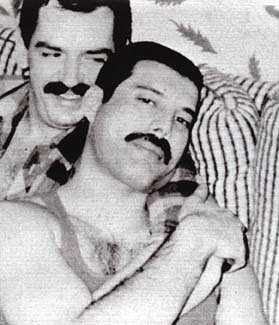 Jim Hutton and Freddie Mercury Jim Hutton (II)
