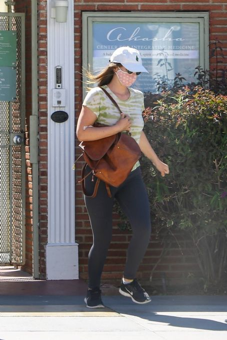 Leighton Meester – In leggings out and about in Santa Monica