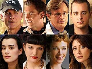 NCIS Gibbs (Mark), Tony (Michael), Ducky (David), Tim (Sean), Ziva (Cote), Abby (Pauley), Jenny (Lauren) & Kate (Sasha)