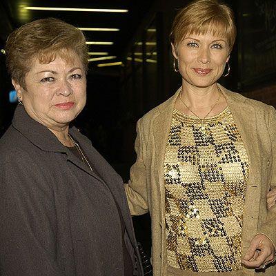 Leticia Calderón with mom