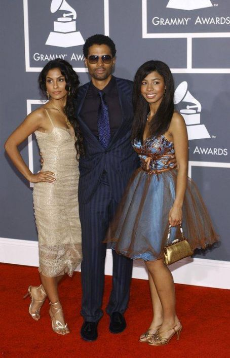 Eric Benét - Eric Benet with his daughter India and Manuela Testolini 51st Annual Grammy Awards held at the Staples Center - Red carpet arrivals Los Angeles, California - 08.02.09