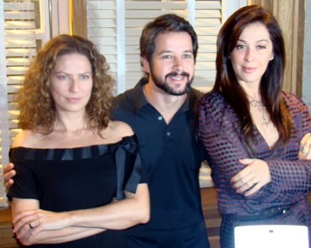 Cláudia Raia Murilo Benicio, Patricia Pillar and Claudia Raia in