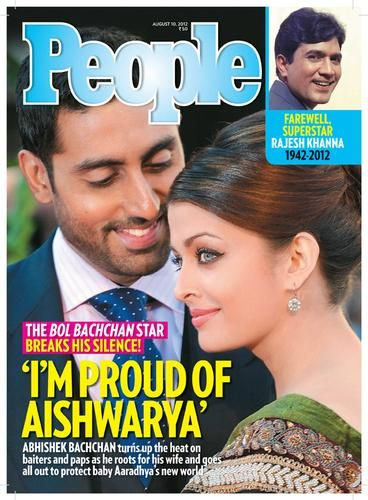 Abhishek Bachchan - Aishwarya Rai - People Magazine Pictorial [India] (10 August 2012)