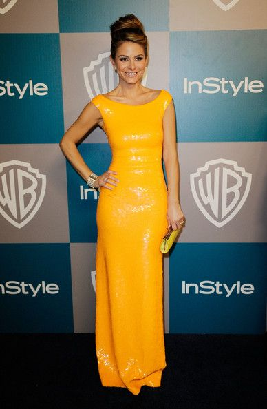 Maria Menounos arrives at 13th Annual Warner Bros. And InStyle Golden Globe Awards After Party at The Beverly Hilton hotel on January 15, 2012 in Beverly Hills