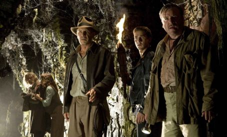 Marion Ravenwood (Left to right) John Hurt as Professor Oxley, and Karen Allen, as , join Harrison Ford as Indiana Jones, Shia LaBeouf as Mutt Williams and Ray Winstone as Mac, in 'Indiana Jones and the Kingdom of the Crystal Skull.' Photo Credit: