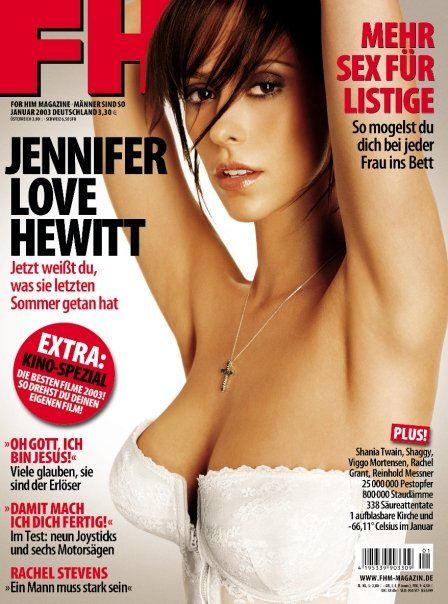 Jennifer Love Hewitt - FHM Magazine Cover [Germany] (January 2003)