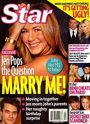 Jennifer Aniston - US Weekly Magazine [United States] (3 November 2008)