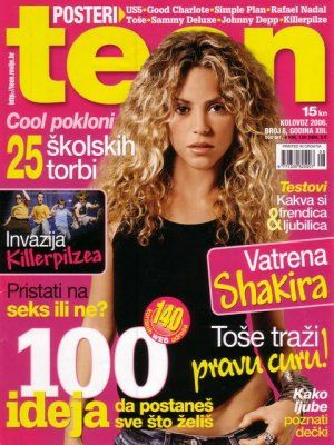 Shakira, Teen August 2006. Shakira, Teen Magazine [Croatia] (August 2006)