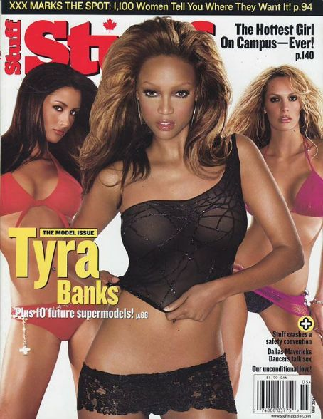 Tyra Banks - Stuff Magazine [United States] (May 2003)