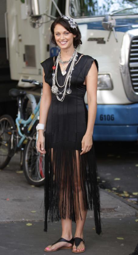 Deanna Russo - the Set of 'Gossip Girl' in New York, 02.09.2009