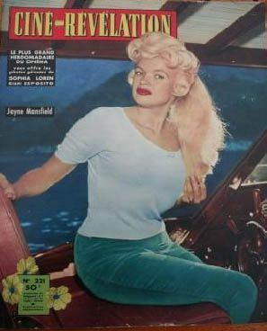 Jayne Mansfield - Cine Revelation Magazine [France] (26 June 1958)