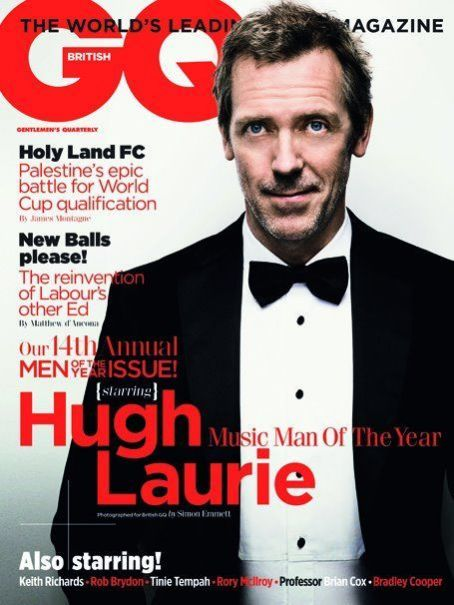 Hugh Laurie - GQ Magazine Cover [United Kingdom] (3 October 2011)