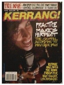 Kerrang Magazine Cover [United Kingdom] (23 July 1989)