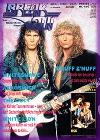 Steve Vai, David Coverdale - Break Out Magazine Cover [Germany] (January 1990)