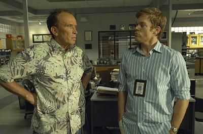 Peter Weller Michael C. Hall As Dexter Morgan and  as Stan Liddy In The Fifth Season Of Dexter (2010)