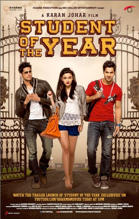 Siddharth Malhotra Latest New Posters of Student of The Year 2012