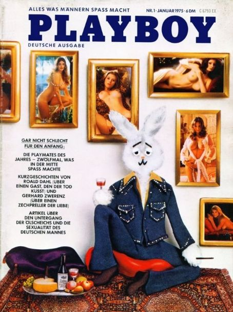 Mr Playboy, Ester Cordet, Marilyn Lange, Bebe Buell, Francine Parks, Nancy Cameron, Kristine Hanson - Playboy Magazine Cover [Germany] (January 1975)