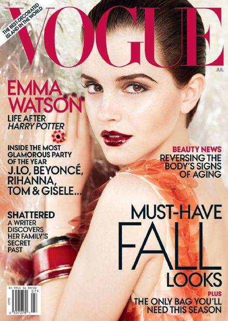 Emma Watson - Vogue Magazine Cover [United States] (July 2011)